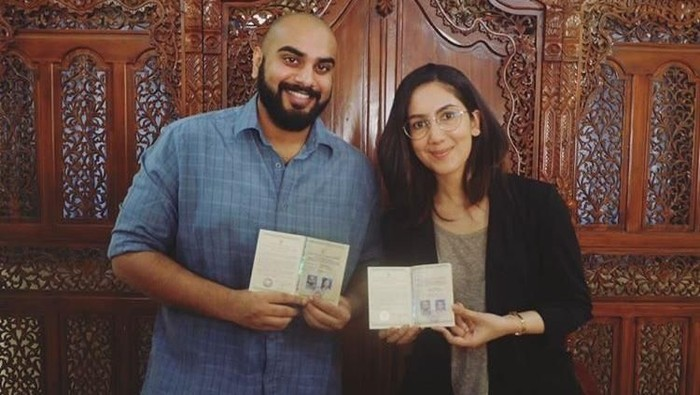 Suhay Salim nikah di KUA. Foto: Dok. Instagram @suhaysalim