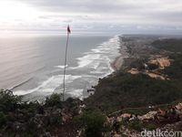 Pemandangan pantai selatan (Pradito Rida Pertana/detikTravel)