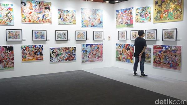 Ada bagian Hello Colorful World. Di sini kita akan melihat beragam gambar One Piece yang penuh warna (Afif Farhan/detikTravel)