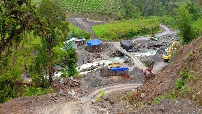 Foto: Jembatan Lokasi Penembakan pekerja Trans Papua. (Istimewa/Ditjen Bina Marga Kementerian PUPR)