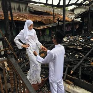 Kisah Pilu Wanita Batal Gelar Pesta Nikah karena Rumahnya Kebakaran