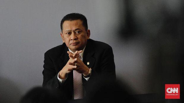 Ketua DPR RI Bambang Soesatyo, di Hotel Bidakara, Jakarta, Selasa (4/12).
