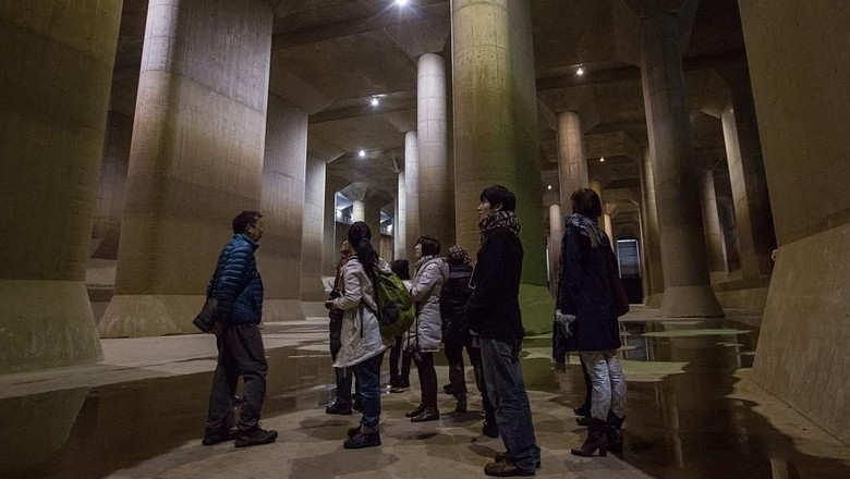 Metropolitan Area Outer Underground Discharge Channel di Tokyo, Jepang (Getty Images)