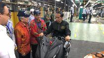 Ini Pesan Jokowi Agar Motor Made in Indonesia Laris di Luar Negeri