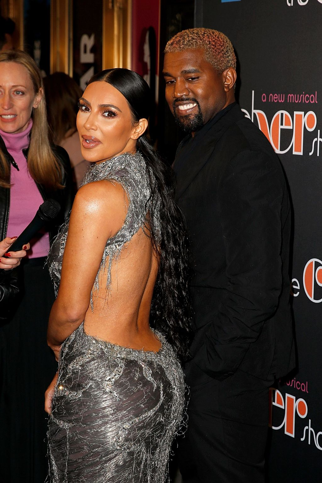 NEW YORK, NEW YORK - DECEMBER 03:  Kanye West and Kim Kardashian West attend the opening night of the new musical 'The Cher Show' on Broadway at Neil Simon Theatre on December 03, 2018 in New York City. (Photo by Dominik Bindl/Getty Images)