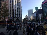 Suasana di Perjalanan Menuju Stasiun Shinjuku, Tokyo