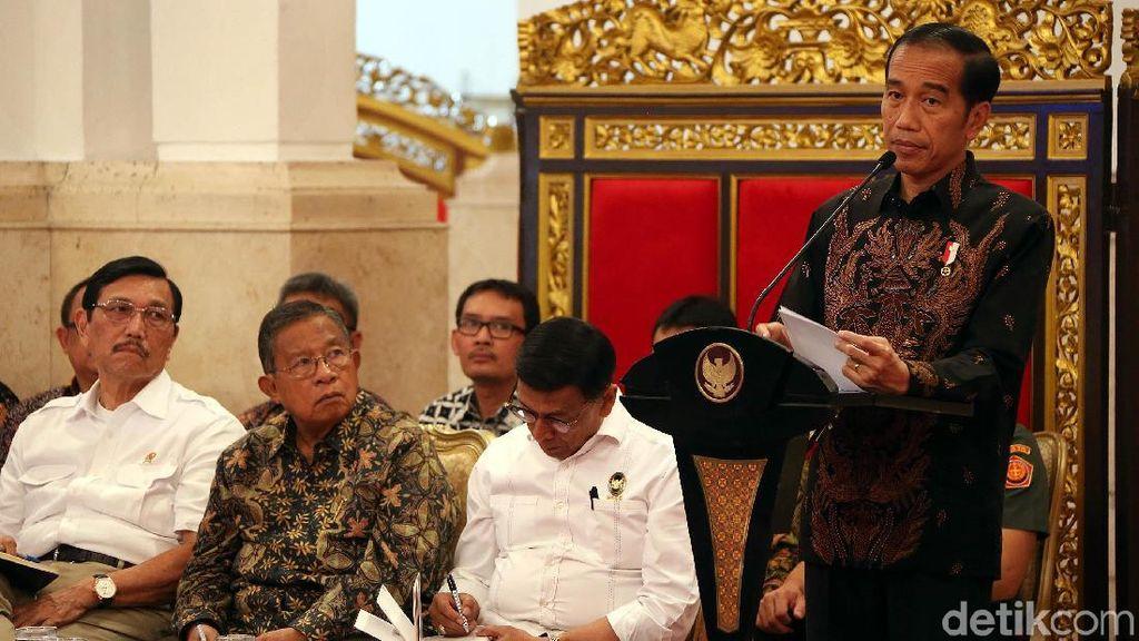 Rapat Bahas APBN 2020, Jokowi Singgung Ekonomi Global