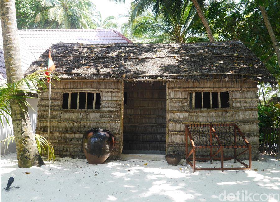 Di Club Med Kani Maldives, terdapat replika rumah tradisional Maldives (Kurnia/detikTravel)