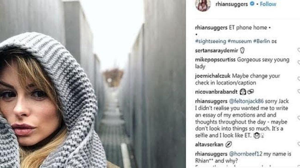 Foto Selfie di Holocaust Memorial, Model Lingerie Ini Kena Kecam