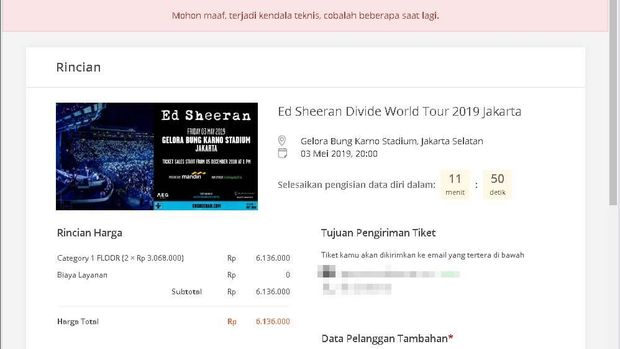 Fan Keluhkan Penjualan Tiket Konser Ed Sheeran Bermasalah