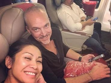 Anggun Cipta Sasmi mengungkapkan jika sang suami merupakan partner traveling yang terbaik. (Foto: Instagram @anggun_cipta)