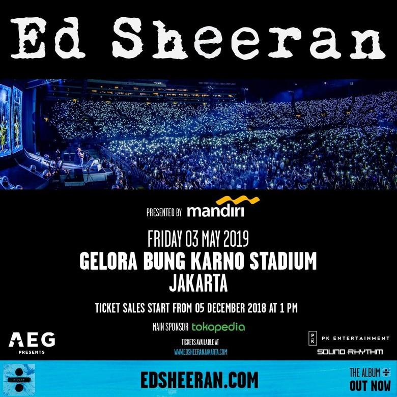 Serbu! Tiket Konser Ed Sheeran di Jakarta Resmi Dijual