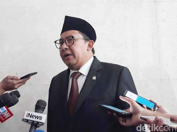 Wakil Ketua DPR sekaligus politikus Gerindra, Fadli Zon. (Tsarina/detikcom)