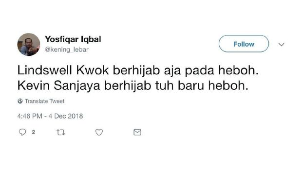 Canda Netizen Soal Lindswell Kwok Mualaf dan Berhijab