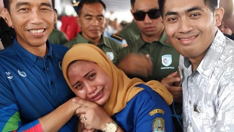 Ibu hamil yang ngidam bertemu Jokowi/ Foto: Instagram