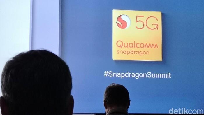 Snapdragon 855 diumumkan, smartphone 5G telah datang. Foto: Agus Tri Haryanto/detikINET