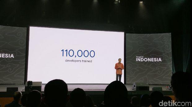 Google mengaku telah melatih 110 ribu developer di Indonesia.