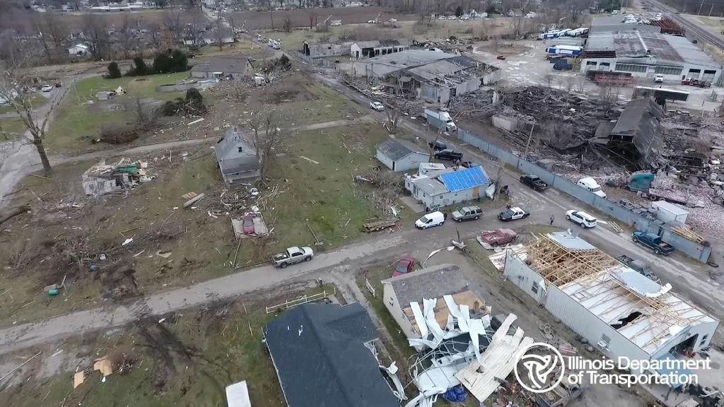 Tornado Terjang Illinois AS, Sejumlah Orang Luka-luka