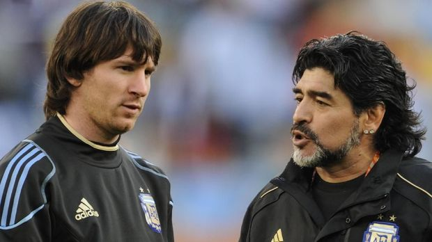 Maradona kerap mengkritik Messi dalam beberapa kesempatan terakhir.