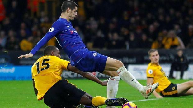Chelsea kesulitan menghadapi Wolverhampton Wanderers.