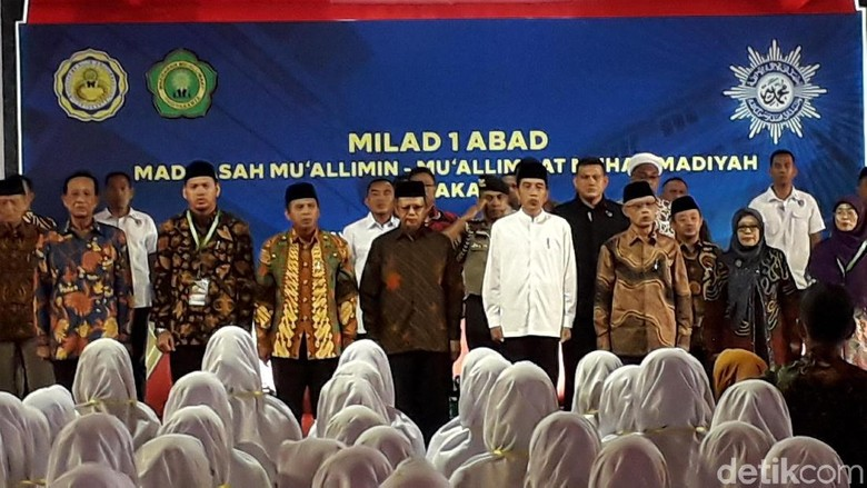 Jokowi Hadiri Milad 1 Abad Muallimin-Muallimat di Yogyakarta
