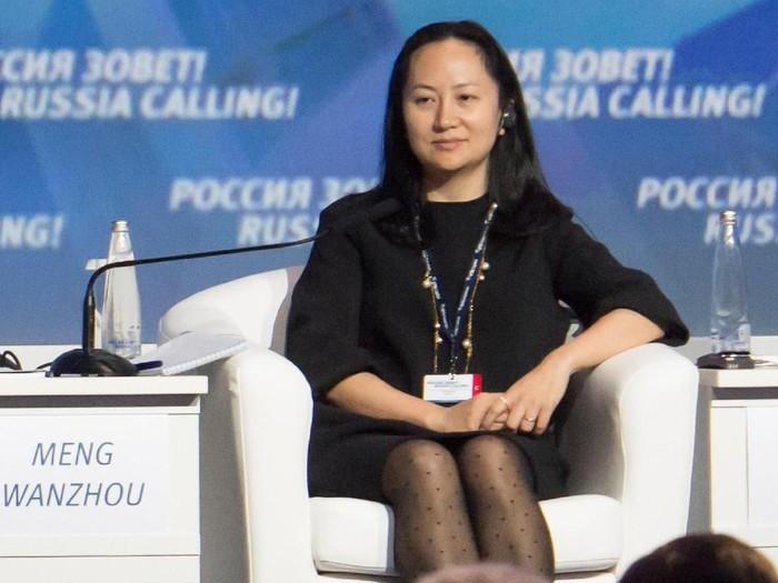 Meng Wanzhou, putri dari Ren Zhengfei selaku pendiri Huawei. Foto: REUTERS/Alexander Bibik