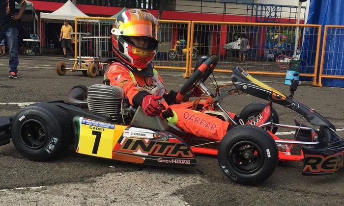 Sejak Rabu (5/12) Qarrar sudah berada di Macau bergabung di Tim Kart Master Tanada Racing Team.