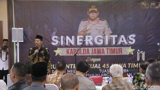 Kapolda Jawa Timur (Jatim) Irjen Luki Hermawan menggelar pertemuan dengan akademisi dan para rektor