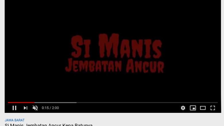 Video Si Manis Jembatan Ancur Buatan Tim Jokowi, akan Tayang di Bioskop