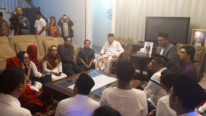 Relawan Milenial Temui Maruf Amin Bahas Narasi Kampanye Pilpres