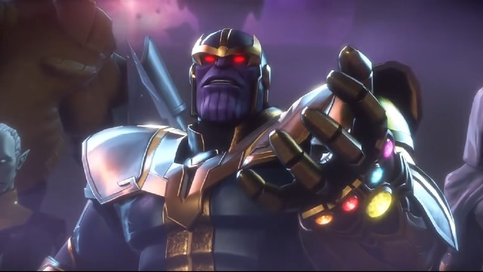 Thanos di game eksklusif Marvel untuk Nintendo Switch (Foto: screenshot Youtube)