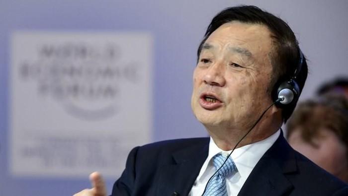 Ren Zhengfei - Pendiri dan CEO Huawei. Foto: AFP PHOTO / FABRICE COFFRINI