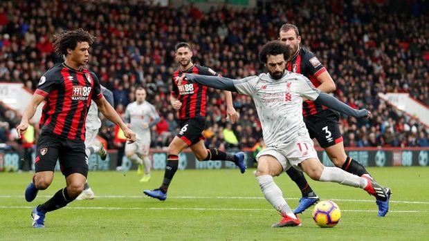 Mohamed Salah jadi bintang kemenangan Liverpool di markas Bournemouth.