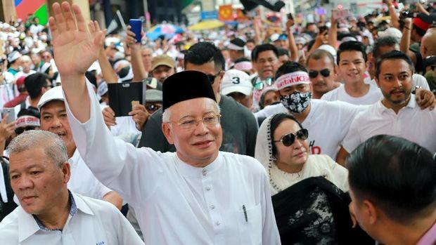 Mantan PM Malaysia Najib Razak turut ikut aksi Aksi 812.