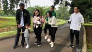 Potret Jokowi Ajak Jan Ethes dan Sedah Mirah Ikut Jalan Santai