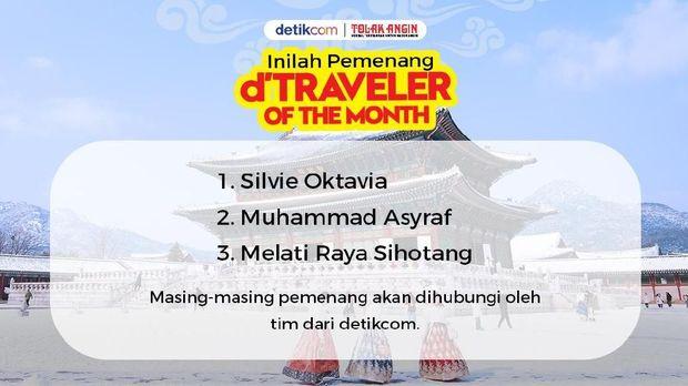Selamat! Ini 3 Pemenang d'Traveler of The Month ke Korea Selatan