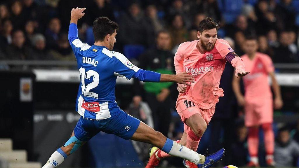 Hasil Espanyol vs Barcelona: Messi Gemilang, Barca Menang