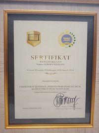 Berperan Penting dalam Perlindungan TKI, Ditjen AHU Raih Penghargaan