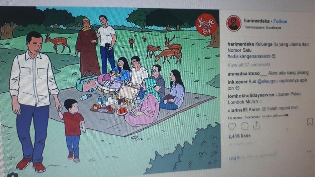 Potret Lengkap Keluarga Jokowi ala Hari Prast
