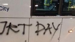 Jakmania dan TransJ Bertemu, Coretan JKT DAY di Bus Dihapus
