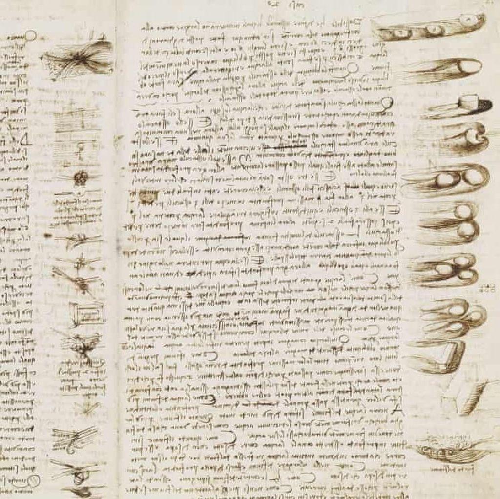 Berusia 5 Abad, Catatan Langka Leonardo da Vinci Dipajang di Inggris