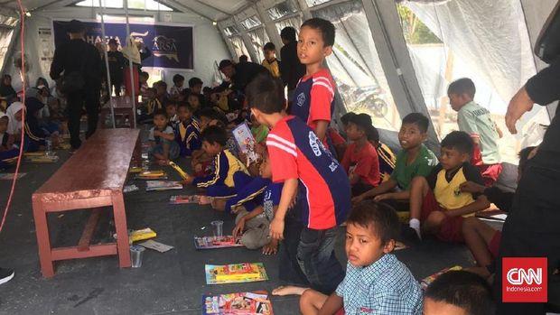 Kelas Sementara Pengungsi Gempa Palu, Sekolah dasar negeri Lolu, kecamatan Sigi Biromaru