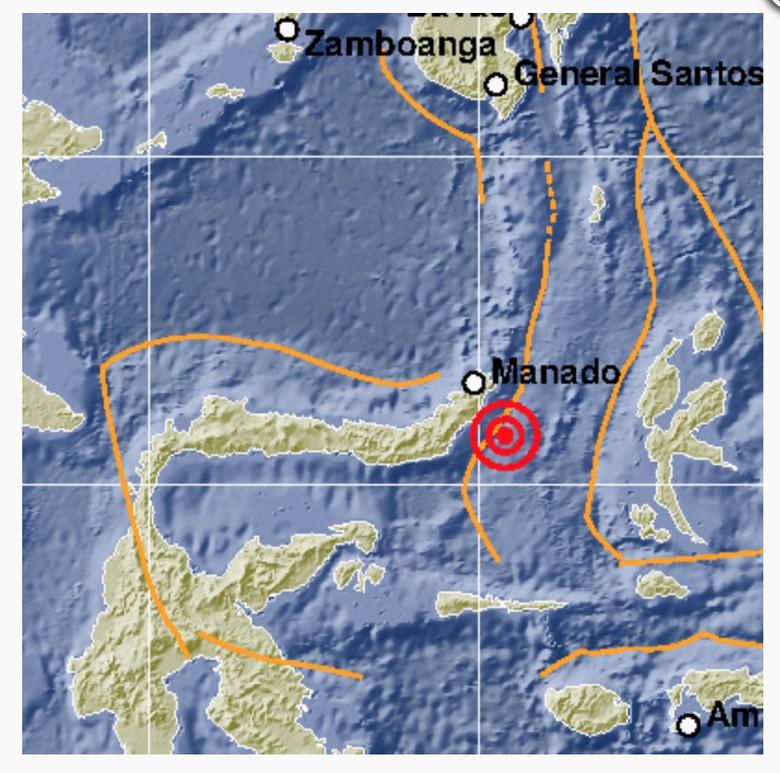 Gempa Magnitudo 5 Guncang Minahasa Tenggara