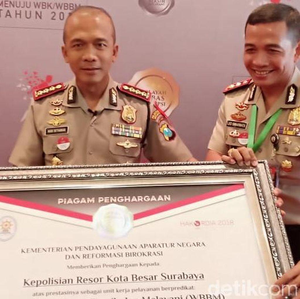 Polrestabes Surabaya Sabet WBBM dari Kemenpan-RB