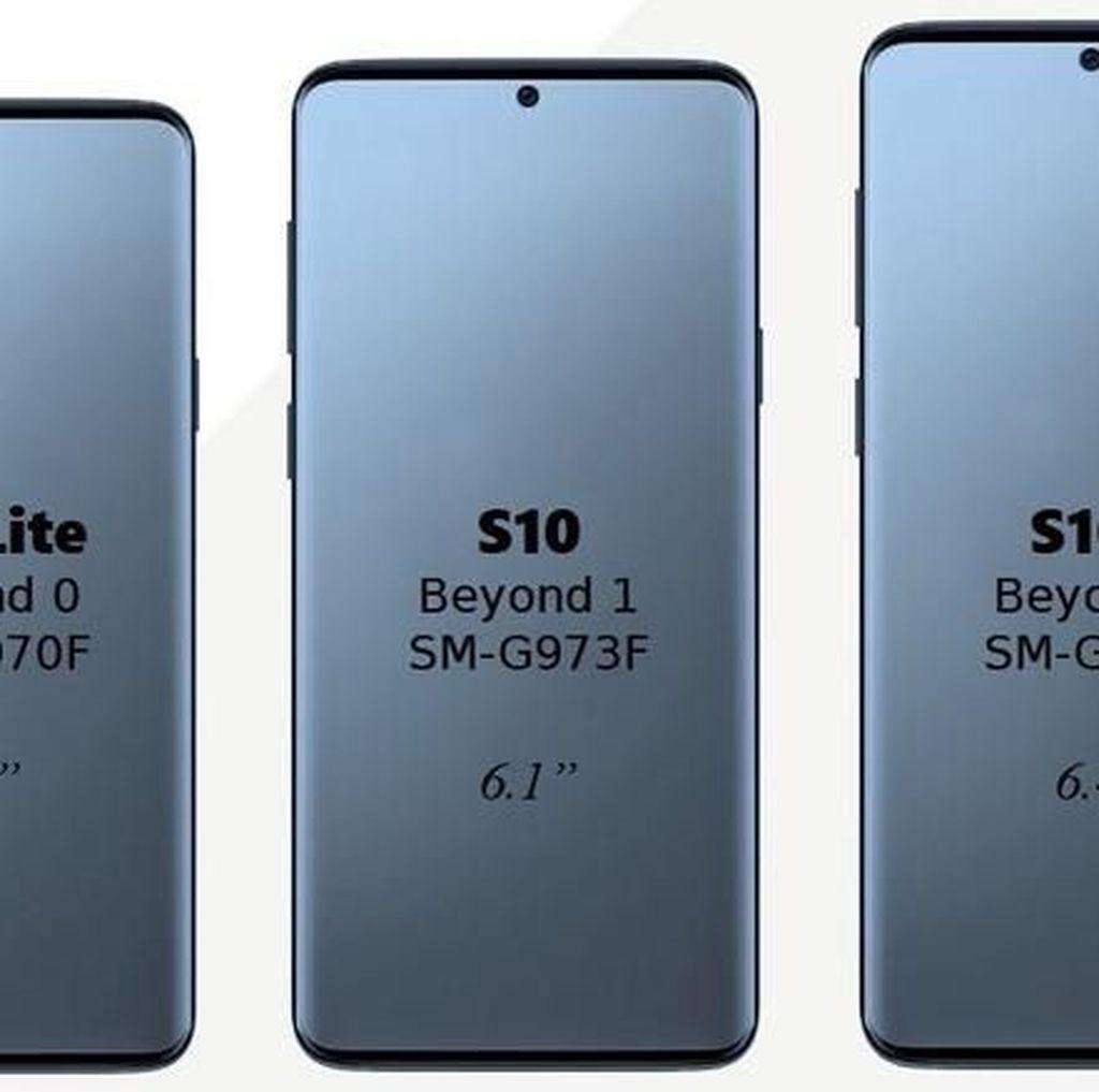 Begini Tampilan Trio Galaxy S10, Samsung?