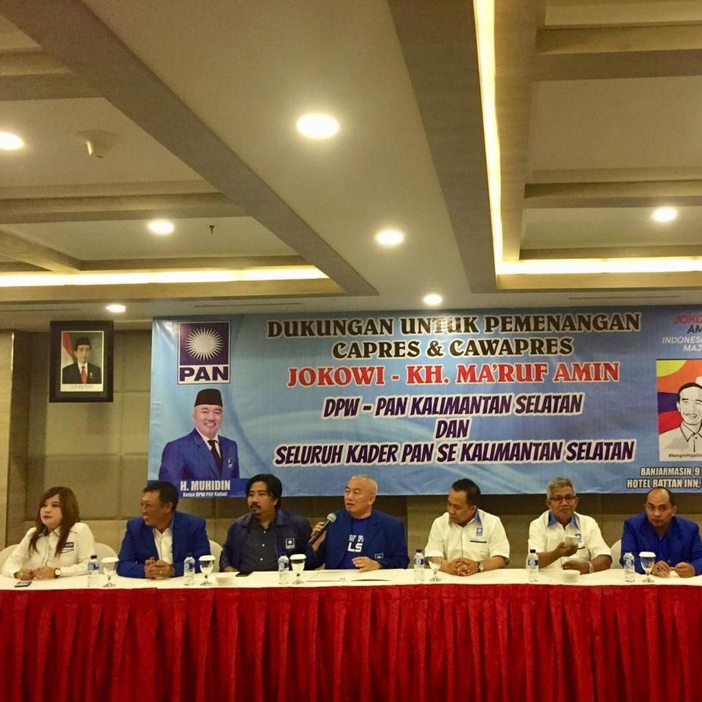 Ketua DPW PAN Kalsel soal Dukung Jokowi: Aku Diminta Besarkan Partai