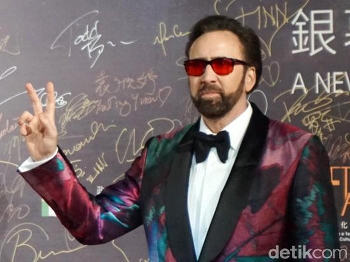 Nicolas Cage saat berada di Festival Film Macau.