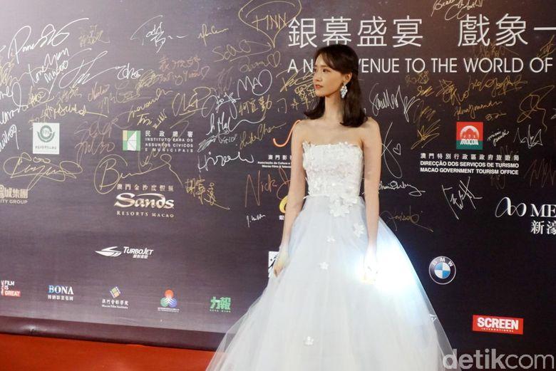 Yoona SNSD saat ditemui di Festival Film Macau pada akhir pekan lalu di Macau Cultural Centre, Macau.