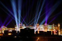 Suasana City Palace di Udaipur yang menjadi lokasi rangkaian acara pernikahan Isha Ambani dan Anand Piramal.