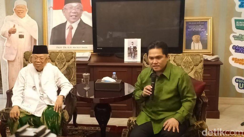 Erick Thohir: Maruf Amin Latihan Debat Dibantu Riza Primadi